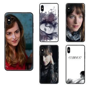 Fifty Shades Grey Dakota Johnson For Xiaomi Mi Note A1 A2 A3 5 5s 6 8 9 10 SE Lite Pro Ultra Replacement Black Soft TPU New image