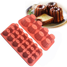 8/18 Cavity Silicone Mold Canele Cake Muffins Non-Stick Baking Tray Molds Food Grade Heat Resistant Dessert Make Decorating Tool