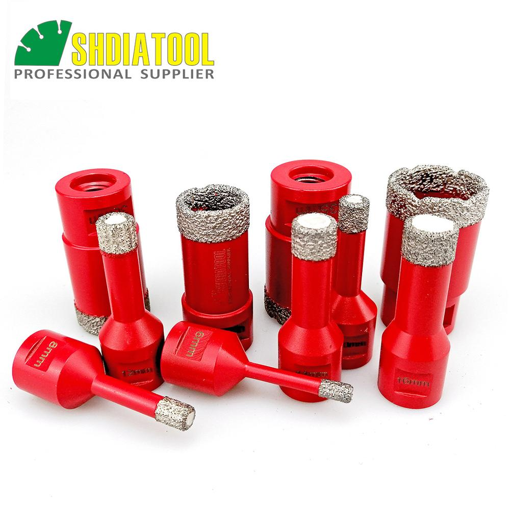 SHDIATOOL Dry Vacuum Brazed Diamond Drilling Core Bits Granite, Marble Hole Saw M14 Thread Drill Bits Porcelain Tile Stone Crown