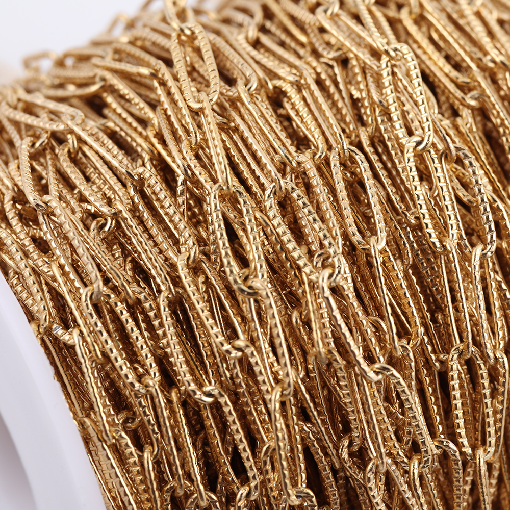Semitree 1 Meter Nickel Free Stainless Steel Chain Gold Oval Link Bulk Chains DIY Necklace Bracelet Making Jewelry Accessories