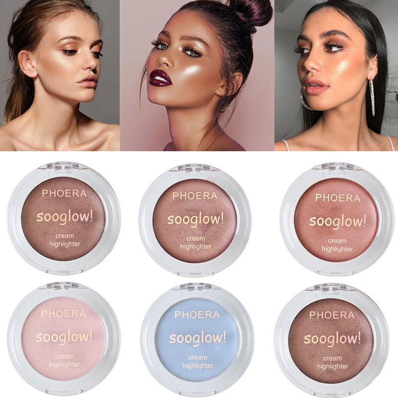 PHOERA Sexy Iluminador Maquillaje Face Highlighter Cream Makeup High Gloss Body Paste Bronzer Highlight Light