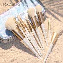 FOCALLURE 12 шт. набор кистей для макияжа Снежный эльф Профессиональный подходит для теней для век основа пудра роскошный набор кистей для макияжа инструменты