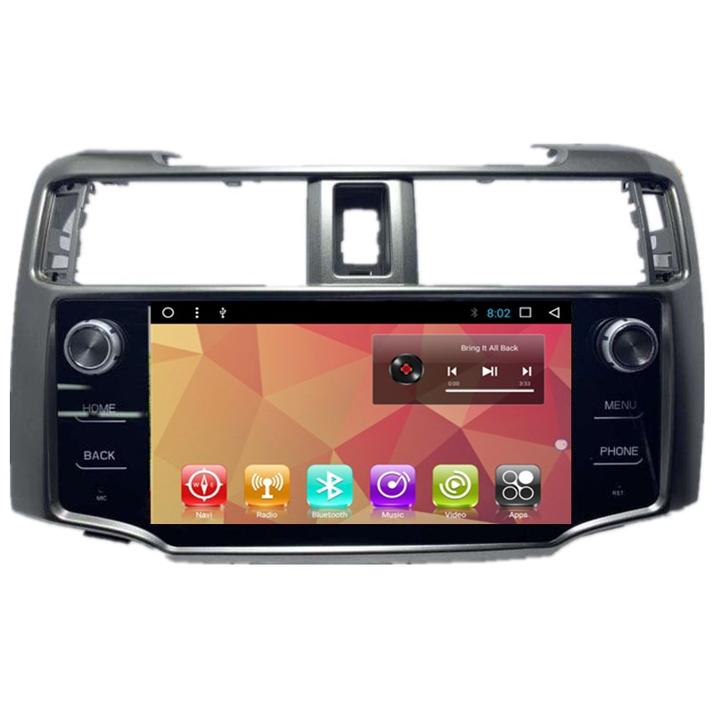 9 inch auto Multimedia-Player Quad Core Android 8,0 Auto Radio GPS Navigation fü<font><b>r</b></font> <font><b>Toyota</b></font> 4Runner 2009 ~ 2019 image
