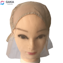 Lace-Wig-Cap Making-Wig Front U-Part GAKA for with Adjustable Straps Light Brown Weaving