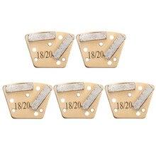 18/20 trapez Metall Bindung Diamant Beton Schleifen Schuh/Segment/Platte Schaber Für Magnetische Platte Foor Grinder