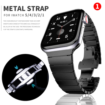 metal strap for apple watch band 44mm 42mm 40mm 38mm stainless steel bracelet for for iwatch 6 se 5 4 3 2 1 series accessories Stainless steel correa for Apple Watch 6 band SE 5 44mm 40mm 42mm 38mm for iwatch series 6 4 3 2 1 metal watch strap accessories