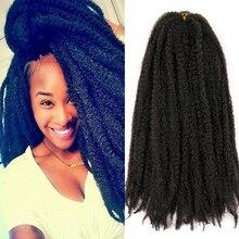Braiding Hair Crochet Hair-Extensions Marley Afro Kinky Burgundy Black Synthetic Ombre