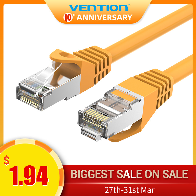 Vention Cat6A Ethernet Cable RJ45 CAT6A Lan Cable Rj45 Network Ethernet Patch Cord For Computer Router Laptop Ethernet Cable