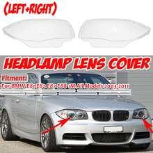 E82 osłona reflektora samochodu przedni reflektor reflektor obudowa dla BMW E81 E82 E87 E88 1M 2003-2011 63116924668 63116924667 tanie tanio Audew Reflektory CN (pochodzenie) none