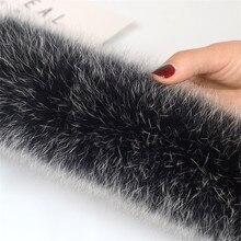 Настоящий натуральный Лисий мех воротник зимний женский шарф пальто с воротником длинная теплая натуральная меховая шапка аксессуары 75 см Longth