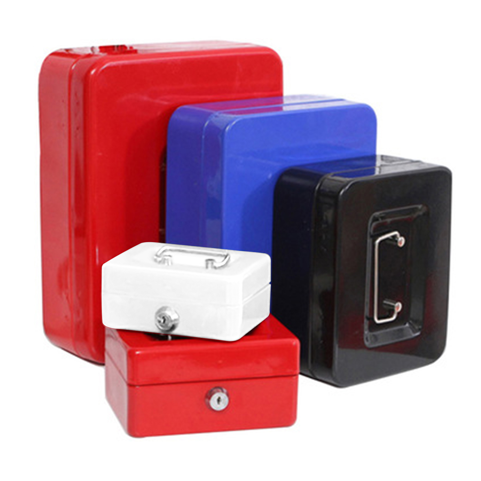 IMPORX Mini Cash Coin Money Safe Box Practical Metal Stainless Steel Secret Box 4 Colors Key Safe Storage Box For Home Office