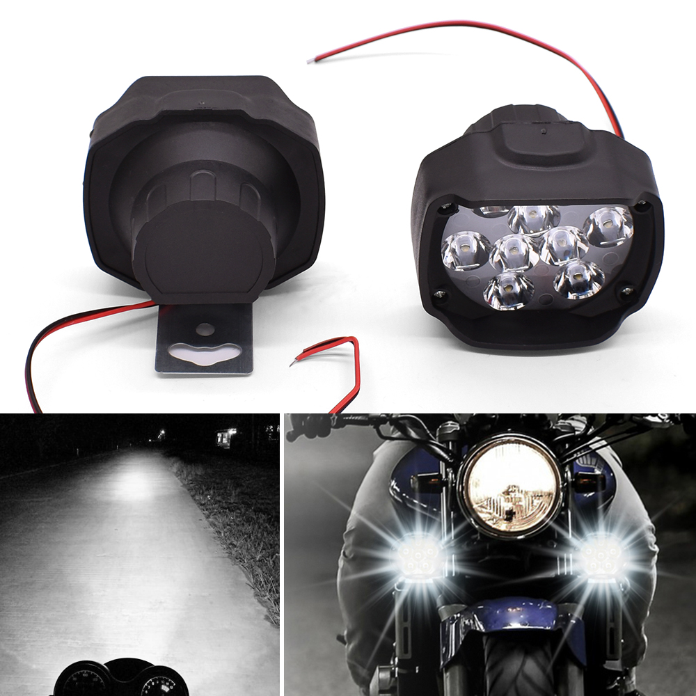 DC 12V Motorcycle Lamp LED Driving Headlight Fog Light Auxiliary Light For BMW F800GS F800GT F800S F800ST Adventure F800 GS/GT/R image