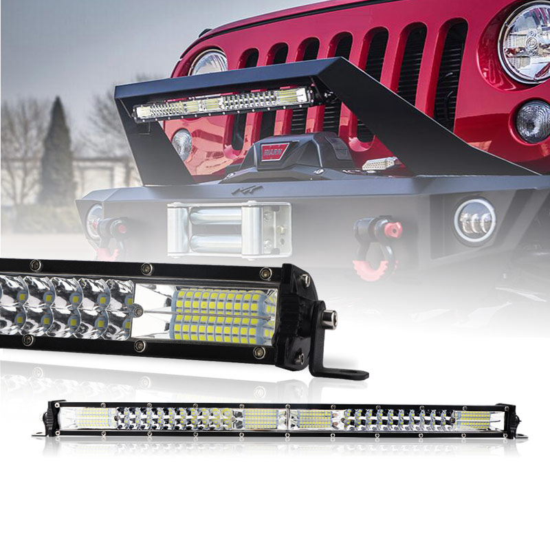 A barra clara ultra magro do diodo emissor de luz 10 polegadas 20 polegada dupla fileira conduziu a lâmpada de condução do trabalho do feixe combinado para o jipe automático fora da estrada 4x4 12v 24v