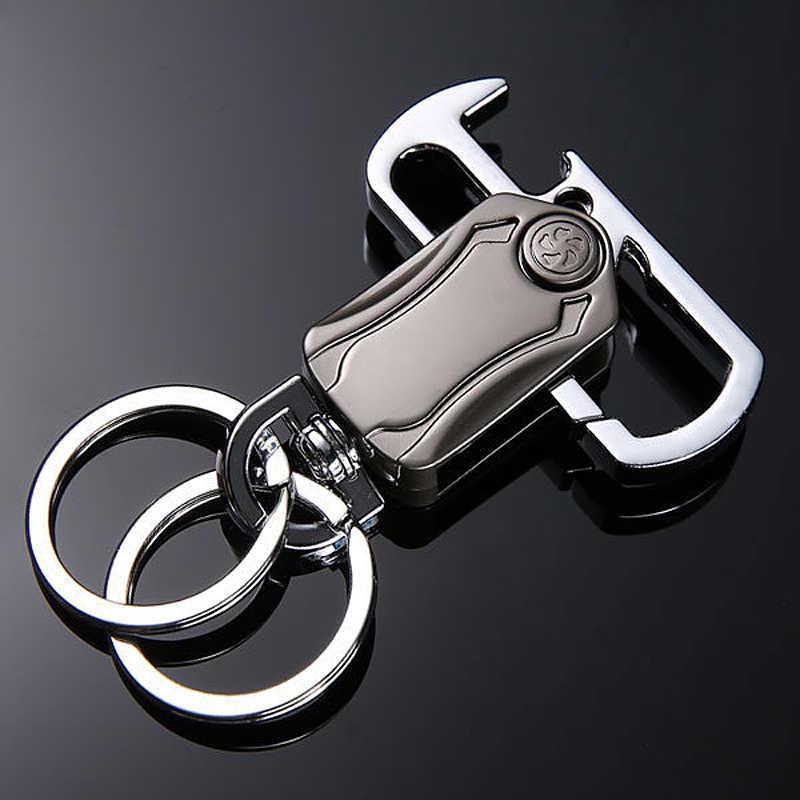 Multifunctional Key Holder Ring Key Case Organizer Bottle Opener LED Light Metal
