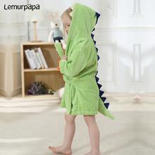 Мультяшное детское полотенце с динозавром банное фланелевый