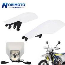 Headlamp Hand-Guard Dirt-Bike Enduro Husqvarna TX White for FC TC FE FX H4