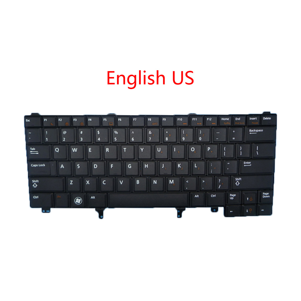 Laptop US SP UK FR <font><b>Keyboard</b></font> For <font><b>DELL</b></font> For <font><b>Latitude</b></font> E6440 E6430 E6420 E6330 E6320 E6230 E6220 E5430 <font><b>E5420</b></font> English Spain France new image