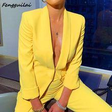 Work OL Suit Female Blazer And Pants Suit Set