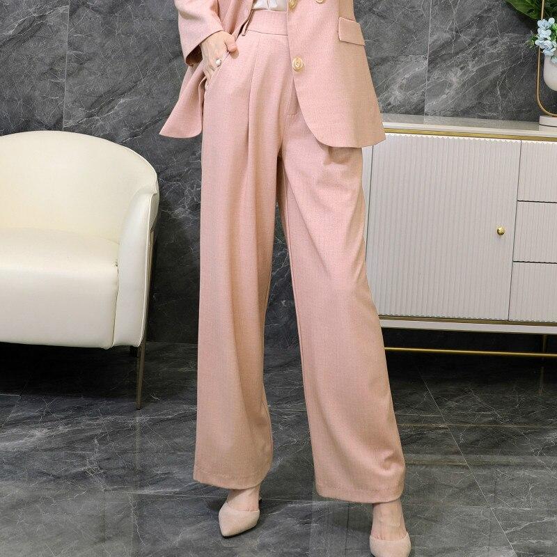 Большие размеры, M 5XL, высококачественные женские штаны, 2020, новые осенние свободные женские широкие брюки, элегантные женские брюки Брюки     АлиЭкспресс