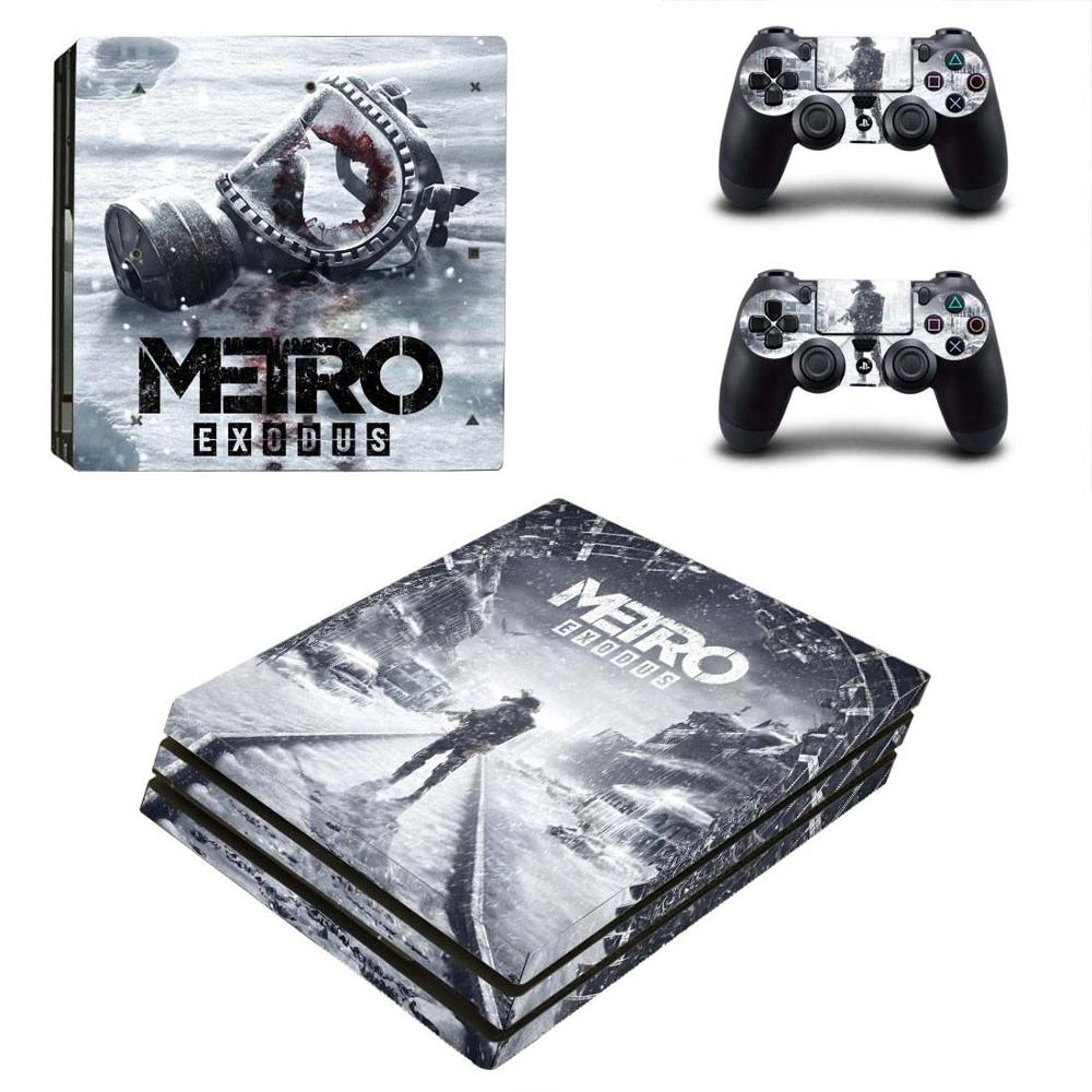 Metro Exodus PS4 Pro Stickers PS 4 Play station 4 Pro Skin Sticker Pegatinas For PlayStation 4 Pro console and controller image