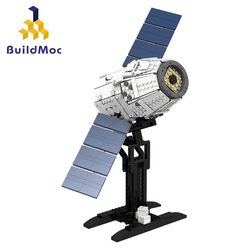 Buildmoc Space Station Saturn Dragon Rocket Building Blocks City Shuttle Satellite Astronaut Figure Man Bricks Set Children Gift