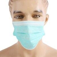50 teile/schachtel Einweg Epidemie Maske Drei Schichten Von vlies Stoff Staubdicht Atmungs Masken für männer frauen-in Fahrradgesichtsmaske aus Sport und Unterhaltung bei