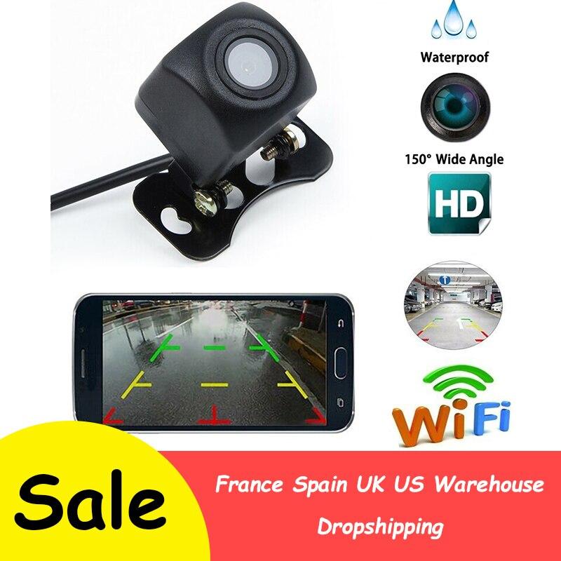1 adet araba kablosuz HD arka görüş kamerası WIFI kablosuz dikiz android kamera ve IOS akıllı telefon Dash kamera geri kamera