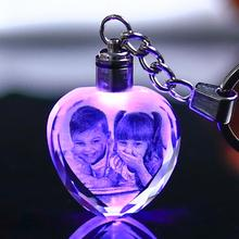 Photo-Frame Crystal Fotolijst-Picture Glass Heart-Shape Custom-Made Lover Small Decor