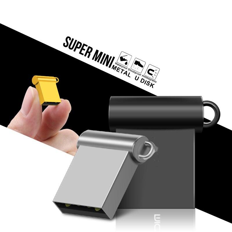 Fast Speed Super Mini Pendrive 4GB USB Flash Drive 32GB 16GB 8GB Metal Waterproof Pen Drive 64GB 128GB USB Stick Flash Drive