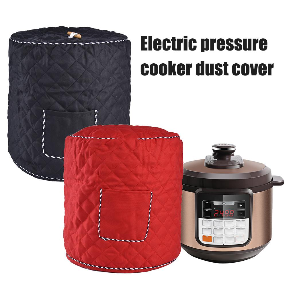 6qt/8qt Polyester Fiber Instant Pot Cover Dust Cover For Electric Pressure Cooker Small Kitchen Appliances Accessories Red/Black