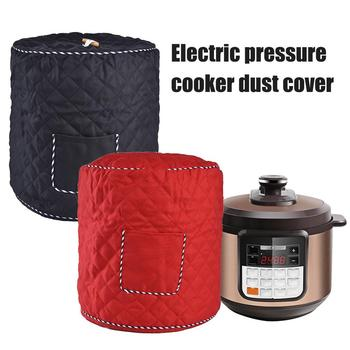 6qt 8qt poliester fibre garnek błyskawiczny pokrywa osłona przeciwpyłowa elektryczny szybkowar małe urządzenia kuchenne akcesoria czerwony czarny tanie i dobre opinie Poliester bawełna Nowoczesne