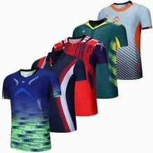 Спортивная брендовая быстросохнущая дышащая футболка для бадминтона, женские и мужские футболки для настольного тенниса и волейбола, командной игры, бега, тренировок