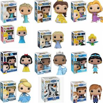 Funko POP Action Figure Model Princess Ariel Rapunzel Cinderella Tiana PVC Toys Collection Gift For Girls 1
