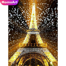 MomoArt Diamond Embroidery Pyramid Painting Landscape Mosaic Full Drill Square Rhinestone Wall Decoration