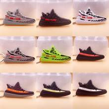 Mini Silicone BOOST 350 V2 Shoes Keychain Bag Charm Woman Men Kids Key Ring Key Holder Gift SPLY-350 Chic Sneaker Keychai(China)