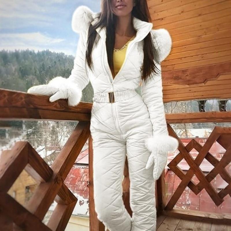 Зимний лыжный костюм для женщин, высокое качество, лыжная куртка с капюшоном + штаны, теплая ветрозащитная одежда для катания на лыжах, сноубординг, женский лыжный костюм s