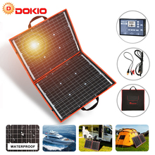 Dokio 18 فولت 80 واط مرنة قابلة للطي لوحة شمسية أحادية في الهواء الطلق ألواح الطاقة الشمسية المحمولة للسفر والقوارب و RV لوحة شمسية عالية الجودة الصين