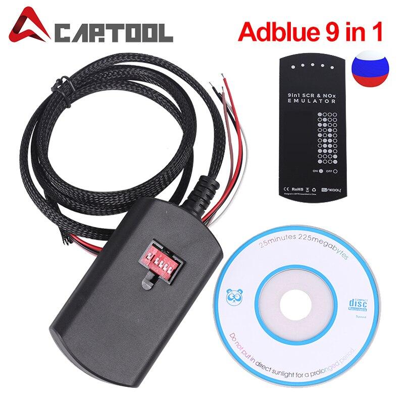 OBD2 Adblue 9 in 1 für multi-marken lkw besser als adblue 8 in1 Super Adblue Emulator Für VOLVO/RENAULT/CUMMINS
