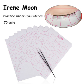 70pairs Under Eyelashes Patches Eye Pads With Scales Individual False Eyelash Extension Tools Practice Eye Patch Beginner Learn