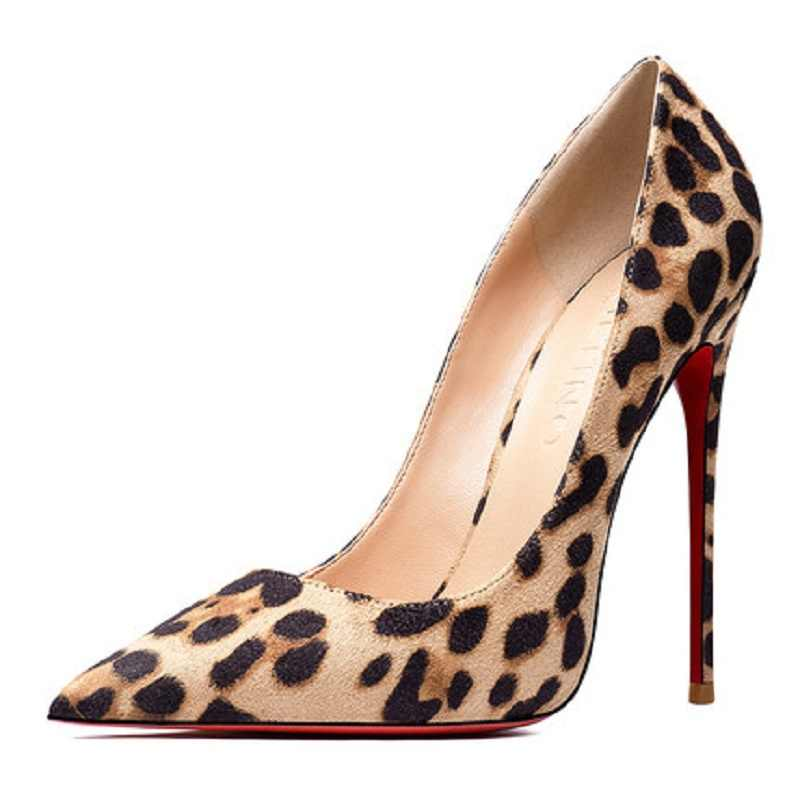 Sexy Leopard Red Red Bottom High Heels