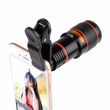 Universal 12 Times Mobile Phone Long Telephoto Telephoto Lens Ultra-clear External Photo Shoot Lens 12x Zoom Focusing Mobile Pho telephoto lens href