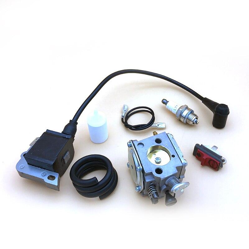 Carburetor Ignition Coil Fuel Filter Line Kit For Husqvarna 268 272 272XP 61 266 Chainsaw  5032803-16   5039014-01 Spark Plug