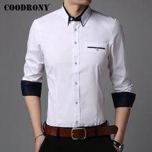 COODRONY Brand Men Shirt Gentleman Business Casual Shirts Long Sleeve Cotton 2019 New Arrivals Camisa Masculina 96098