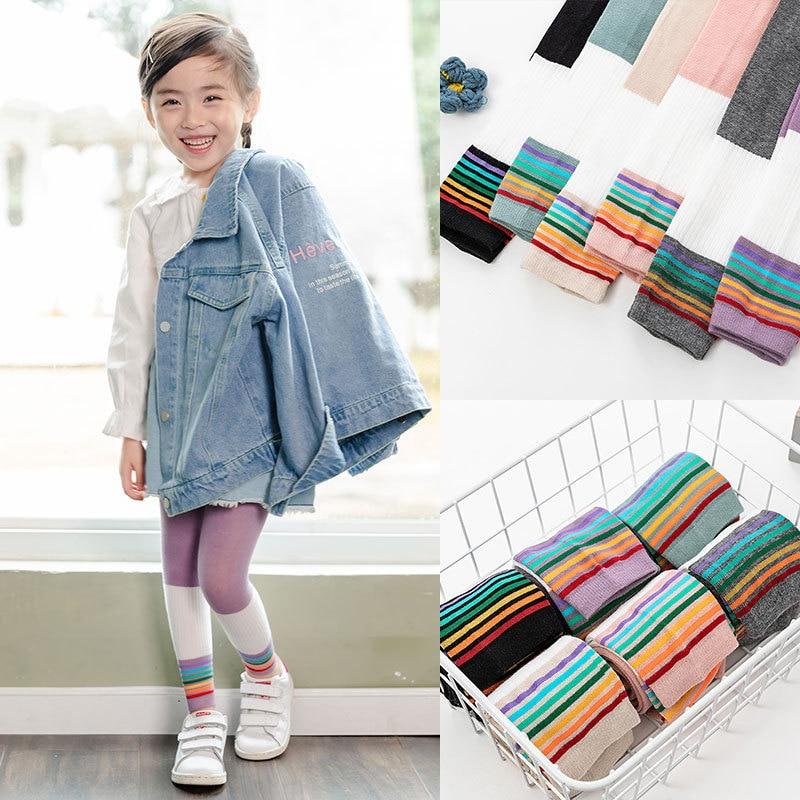 Anak Perempuan Celana Legging 2020 Pelangi Legging Untuk Anak Anak Katun Bayi Leggins Rajut Anak Celana Pakaian 1 9t Legging Aliexpress