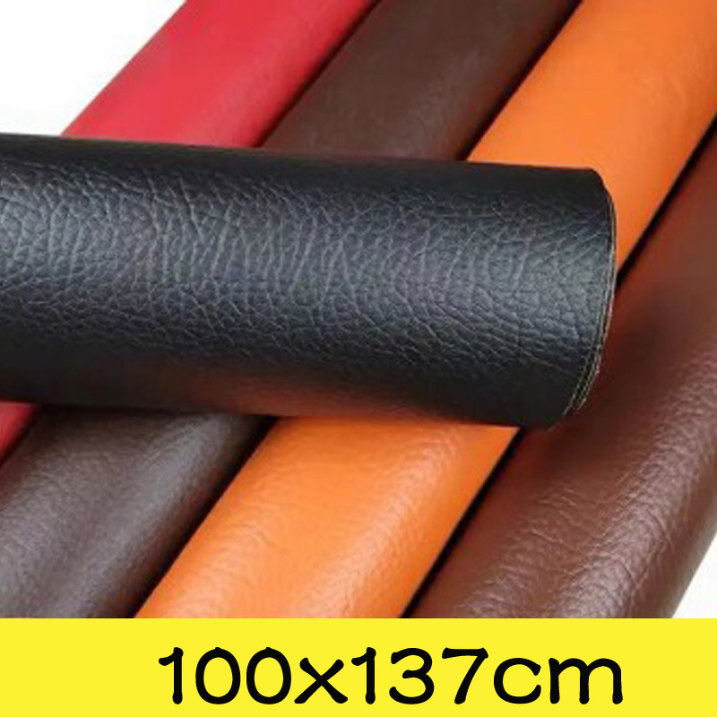 Large Size 100x137cm Self Adhesive PU Leather Fabric Fix Patch Sofa Repair Patches Stick-on PU Leather Fabric Stickers Scrapbook