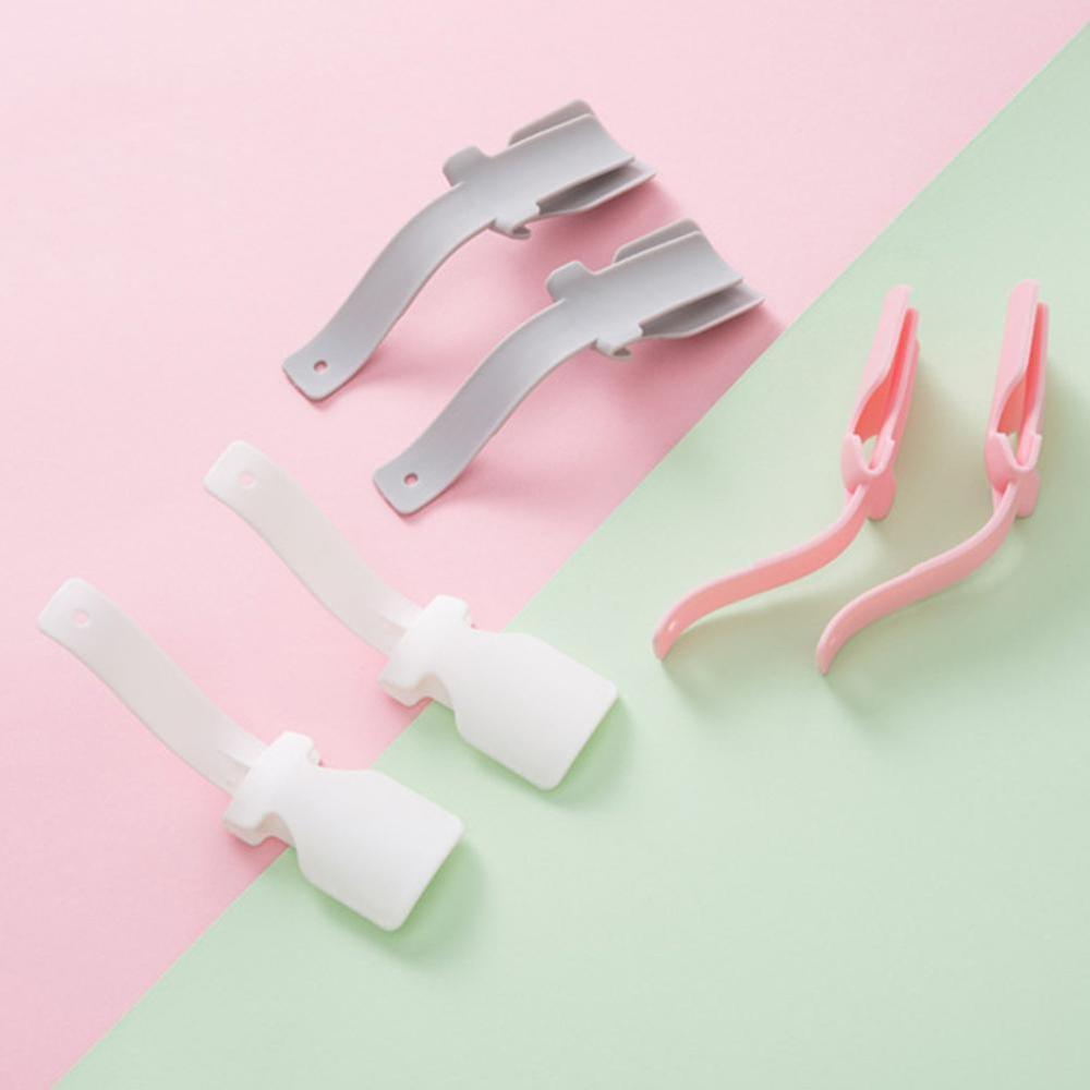 2PCS Lazy Shoe Helper Lazy Shoes Lifter Colorful Plastic Shoehorn Shoe Horns Spoon Flexible Shoe Lifter Shoes Accessories