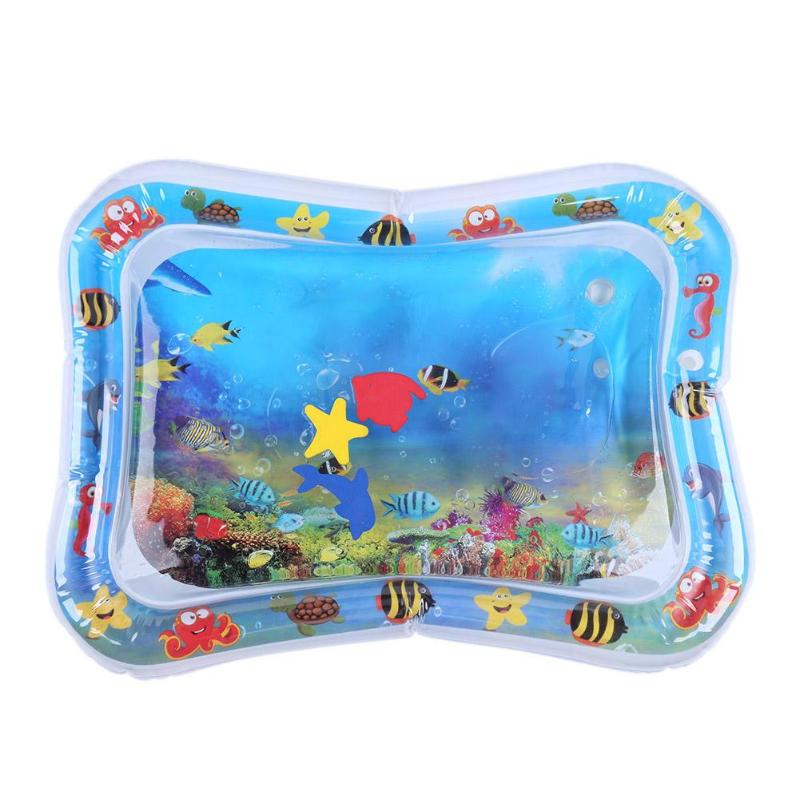 Baby Kids Water Play Mat Inflatable Infant Tummy Time Playmat Toddler For Baby Fun Activity Play Center Baby Toddler Toys