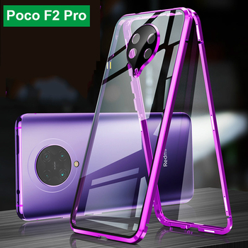 Magnetic Case For Xiaomi Pocophone F2 Pro Case Double-Sided Full Protected Tempered Glass Case on For Redmi K30 Pro Poco F2 Pro