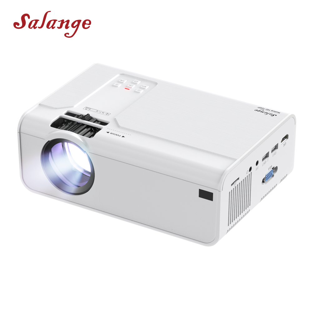 Salange P60 Led Projector for Home Theatre System Portable Proyector 1280x720P Resolution 3D Video Beamer,Optional Android WIFI