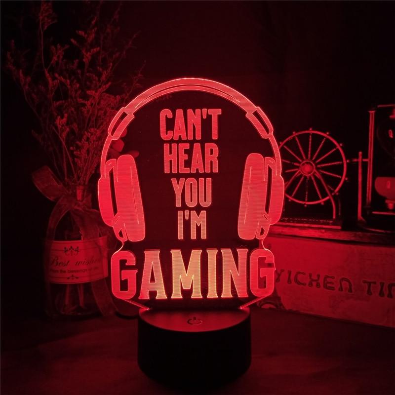 pode ouvi-lo eu estou gaming candeeiro de